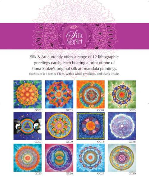 Selection of Silk & Art mandala greetings cards available